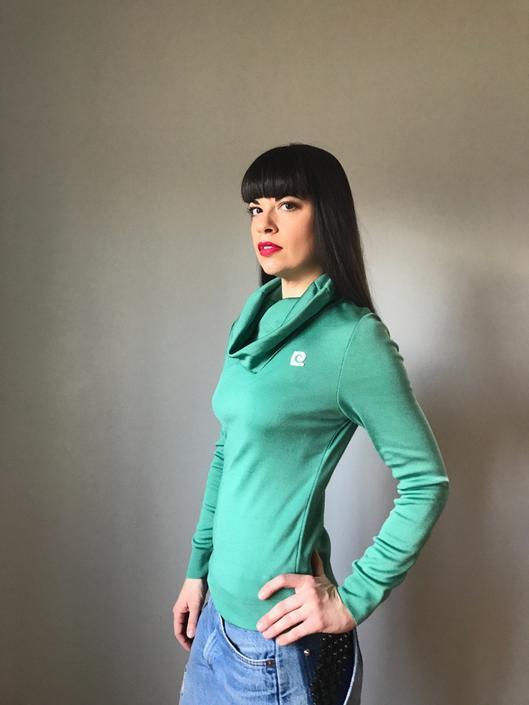 60s PIERRE CARDIN cowl neck sweater | mod pullover logo top | RARE by LosGitanosVintage