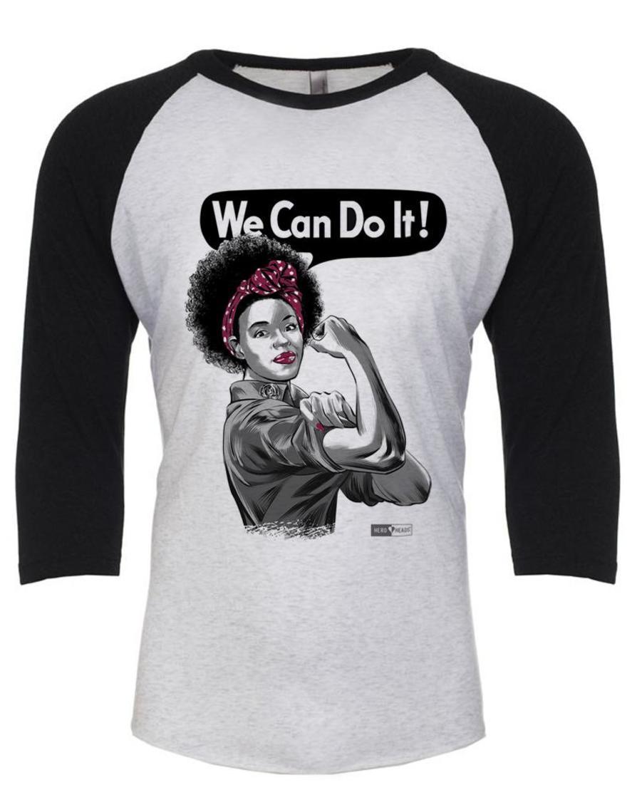 Rosie The Riveter African American Unisex Adult 3 4