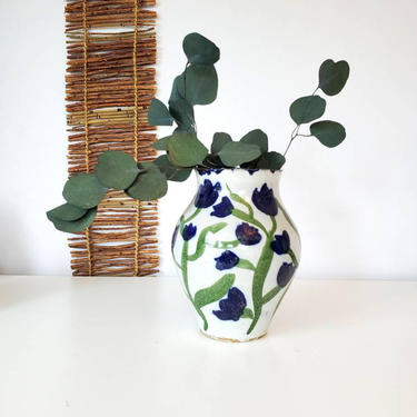Vintage Studio Pottery Handpainted Vase by pennyportland