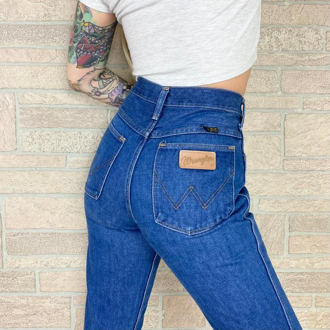 70's Wrangler Bell Bottom Jeans / Size 26 27 by NoteworthyGarments