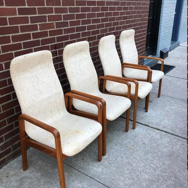 DYRLUND Danish Modern Teak Dining Chairs Set of 4 by bcdrygoods