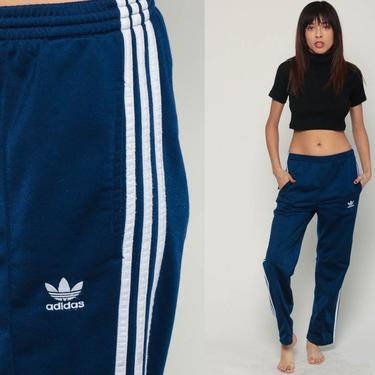 b8e70047244f Adidas Track Pants 90s Gym Jogging Running Blue Striped Track Suit ...