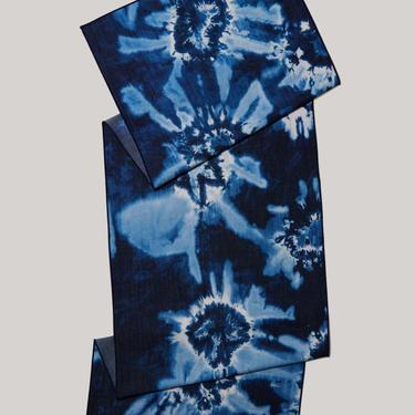Tie-dye Denim Linen Centerpiece Runner