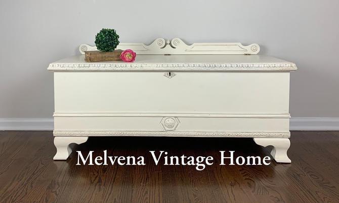 Vintage cedar chest by MelvenaVintageHome
