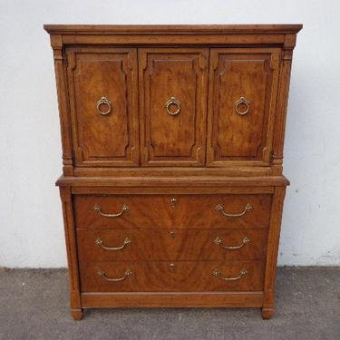 Antique Wood Dresser Chest of Drawers Vintage Century Bedroom Furniture Wood Bureau Armoire Media Console Traditional CUSTOM PAINT Avail by DejaVuDecors