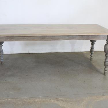 """French Country Dining Table Rustic Natural Gray Farm 80"""" Long by AnnexMarketplace"""