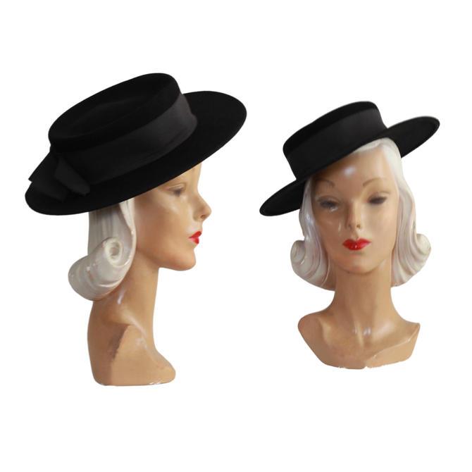 Vintage Black Cordovan Hat - Vintage Black Gaucho Hat - Vintage Sierra Hat - Vintage Andalusia Hat - Black Sierra Hat - 90s Gaucho Hat by VeraciousVintageCo