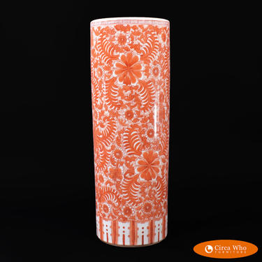 Chinoiserie Orange Umbrella Stand