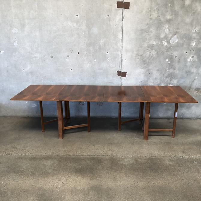 Mid Century Danish Modern Expandable Dining Room Table