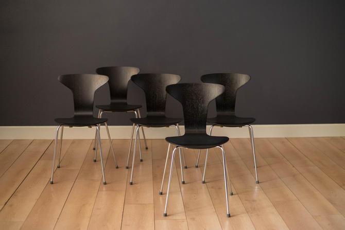 Danish Mosquito Munkegård Dining Chairs by Arne Jacobsen by MidcenturyMaddist