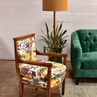 Pair of Antique Arm Chairs with Down Cushions