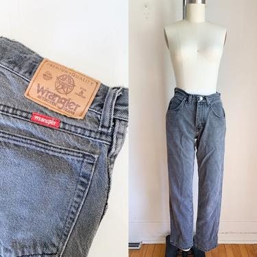 "Vintage 1980s Faded Black Wrangler Jeans / 28"" waist by MsTips"