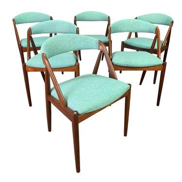"Vintage Danish Mid Century Modern Teak Dining Chairs ""Model 31"" by Kai Kristiansen. Set of Six. by AymerickModern"