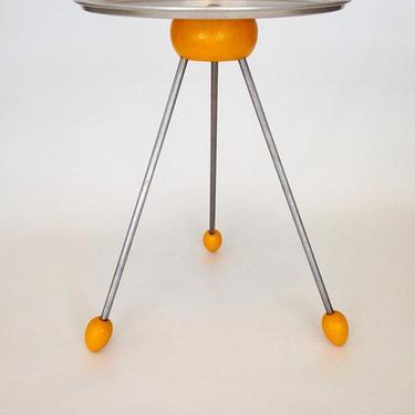 Space Age Side Table (as updated). Available at the Etsy store for $160.00
