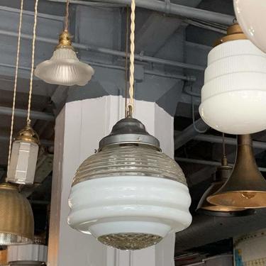 Art Deco Layered Glass Pendant Light