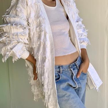 80's Paula Sweet Muslin Mink White Jacket by VintageRosemond