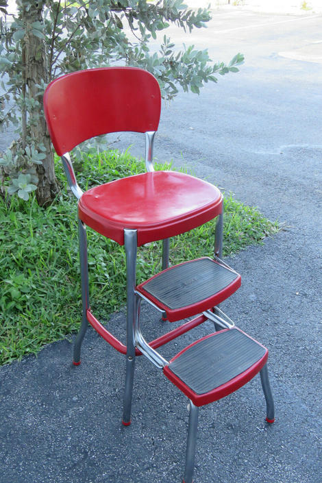 Cosco Retro Counter Chair Step Stool Red Columbus Indiana 1526