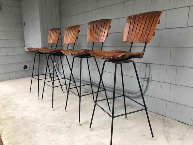 Set of Midcentury Umanoff Style Bar Stools
