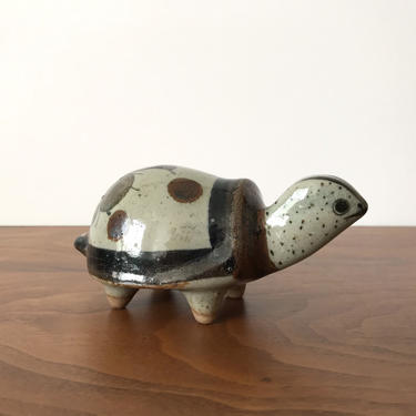 Jorge Wilmot Folk Art Pottery Turtle from Tonala Mexico by TheThriftyScout