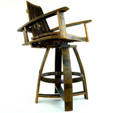 Bourbon Barrel Pub Chair - Barrel Furniture by HungarianWorkshop