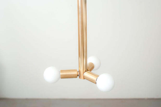 3 Bulb Brass Hanging Pendant Light by Dylan Design Company by dylangrey