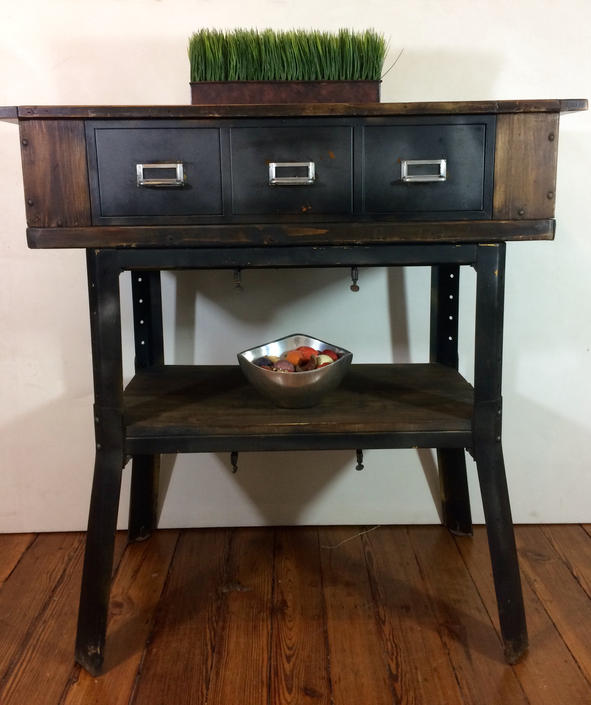 Industrial furniture, entryway console by SouliDesign