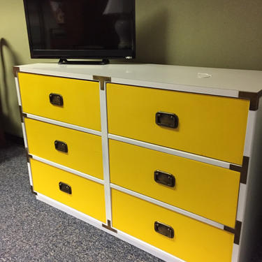 6 drawer campaign dresser by AgentUpcycle
