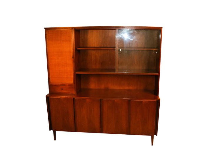American of Martinsville Mid Century China Cabinet Hutch by Marykaysfurniture