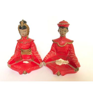 Asian Lady Figurines -- Asian Figurines -- Woman Figurines -- BP Imports Figurines -- Japanese Figurines -- Red Figurines