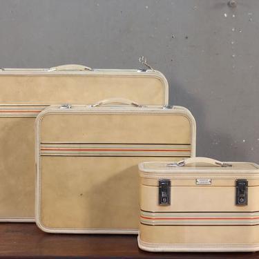 Trio of Retro Amelia Earhart Suitcases