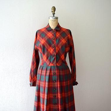 Vintage Claire McCardell dress . 1950s red and green plaid dress by BlueFennel