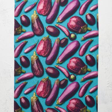 Eggplant Mélange Tea Towel