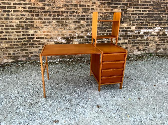 Vintage Teak Desk by Karlit Made in Sweden