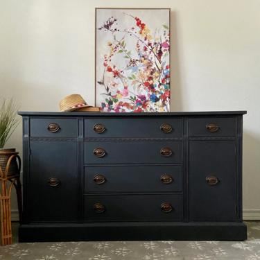 Vintage Buffet Credenza Cabinet *Local Pick Up Only by BluePoppyFurniture