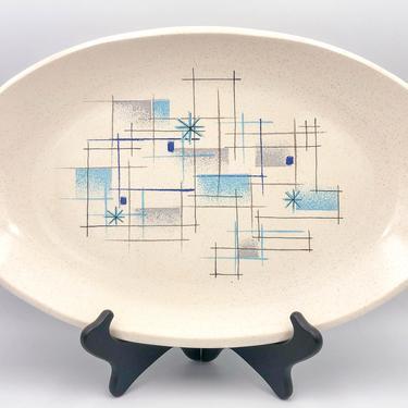 "Franciscan Oasis 15"" Oval Serving Platter | Vintage California Pottery | Mid Century Modern Dinnerware |  Earthenware Serveware Plate by MostlyMidCenturySF"