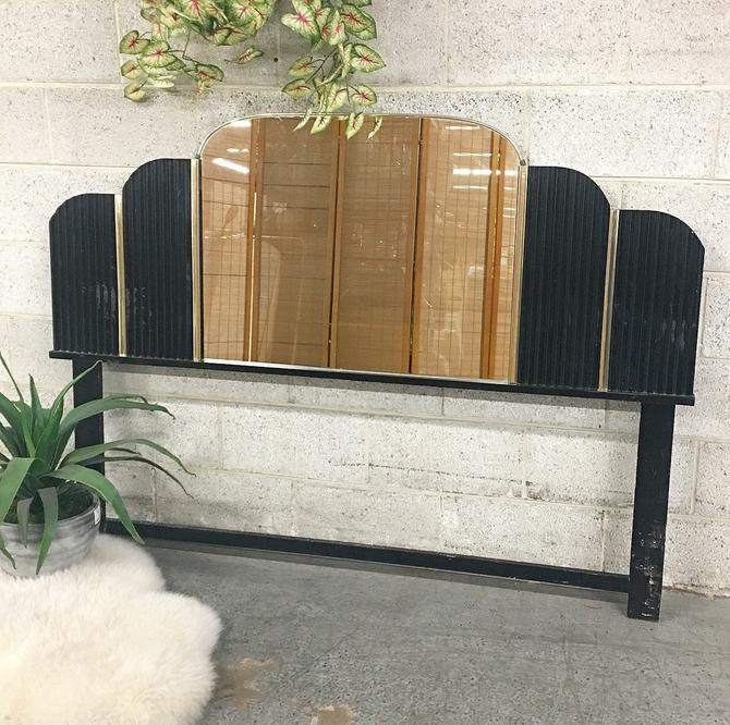 LOCAL PICKUP ONLY ———— Vintage Mirrored Headboard by RetrospectVintage215
