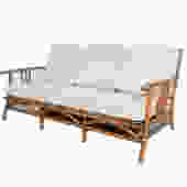 Ficks Reed Sofa Bamboo and Rattan designed by John Wisner Mid Century Modern by HearthsideHome