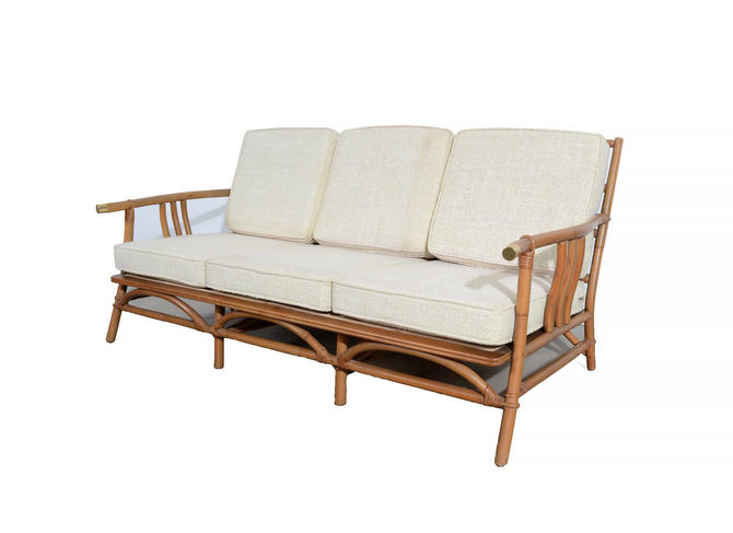 Ficks Reed Sofa Bamboo And Rattan Designed By John Wisner Mid Century Modern Hearthsidehome