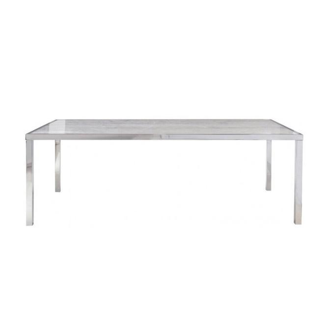 Arcadia Silver Wood Grain Table