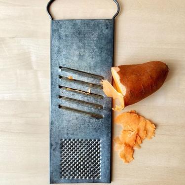 vintage metal grater -  Rapids slaw and vegetable cutter shredder slicer - primitive kitchen decor by ionesAttic