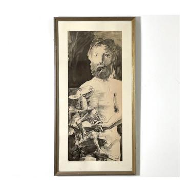 Vintage Pablo Picasso Etude Pour Le Mouton Lithograph 1960s by 20cModern