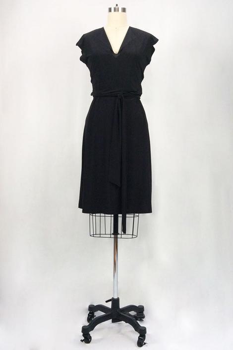 Rita Hayworth Short Sleeves (Black)