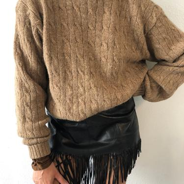Vintage Polo Ralph Lauren Cable Knit Brown Sweater by VintageRosemond