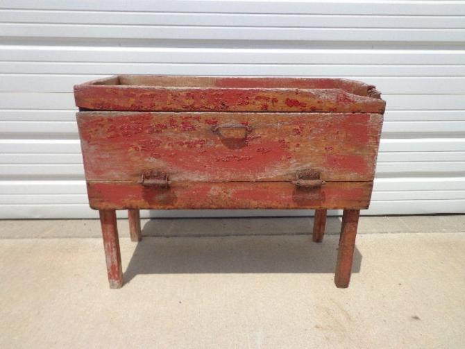 Antique Cabinet Vintage Storage Rustic Primitive Shabby Chic Coffee Table Chest Blanket Bed Bench Wood Boho Cottage Coastal Chippy Paint by DejaVuDecors