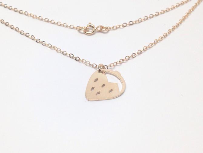 Gold Strawberry Necklace by Sarah Cecelia Jewelry by SarahCecelia