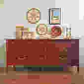 Red Bamboo Thomasville 9-drawer Dresser