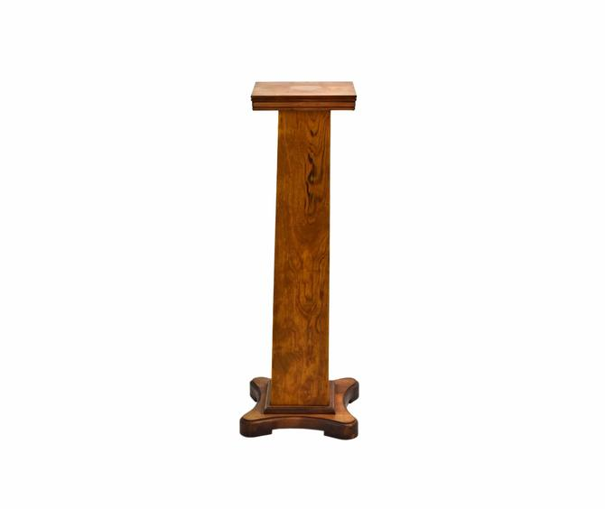 Vintage Arts and Crafts Style Nicely Grained Wood Pedestal Sculpture Stand by PrairielandArt