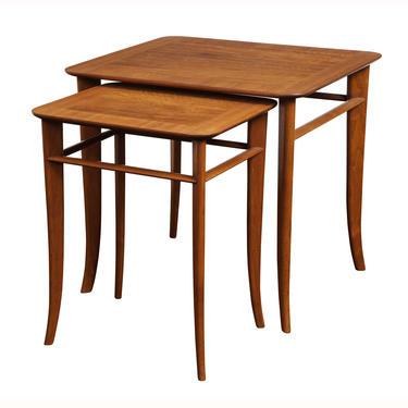 T.H. Robsjohn-Gibbings Elegant Pair of Nesting Tables 1950s