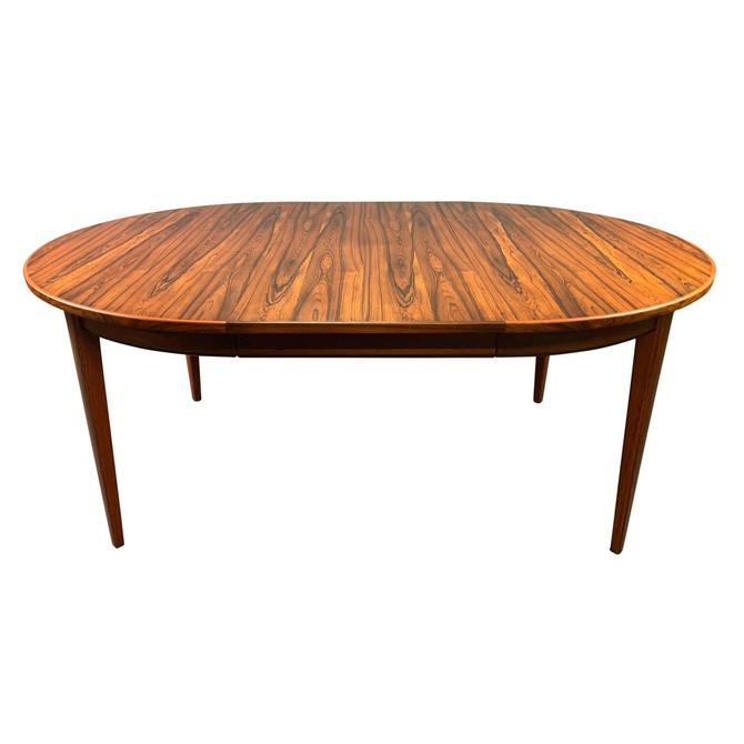 Vintage Danish Mid Century Modern Rosewood Oval Dining Table by AymerickModern
