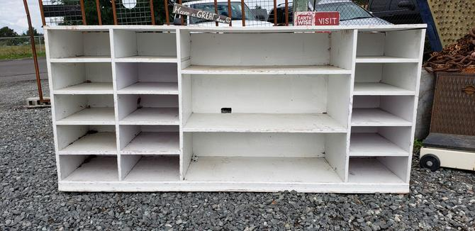 Wood shelves 78 w x 36 h x 18 d